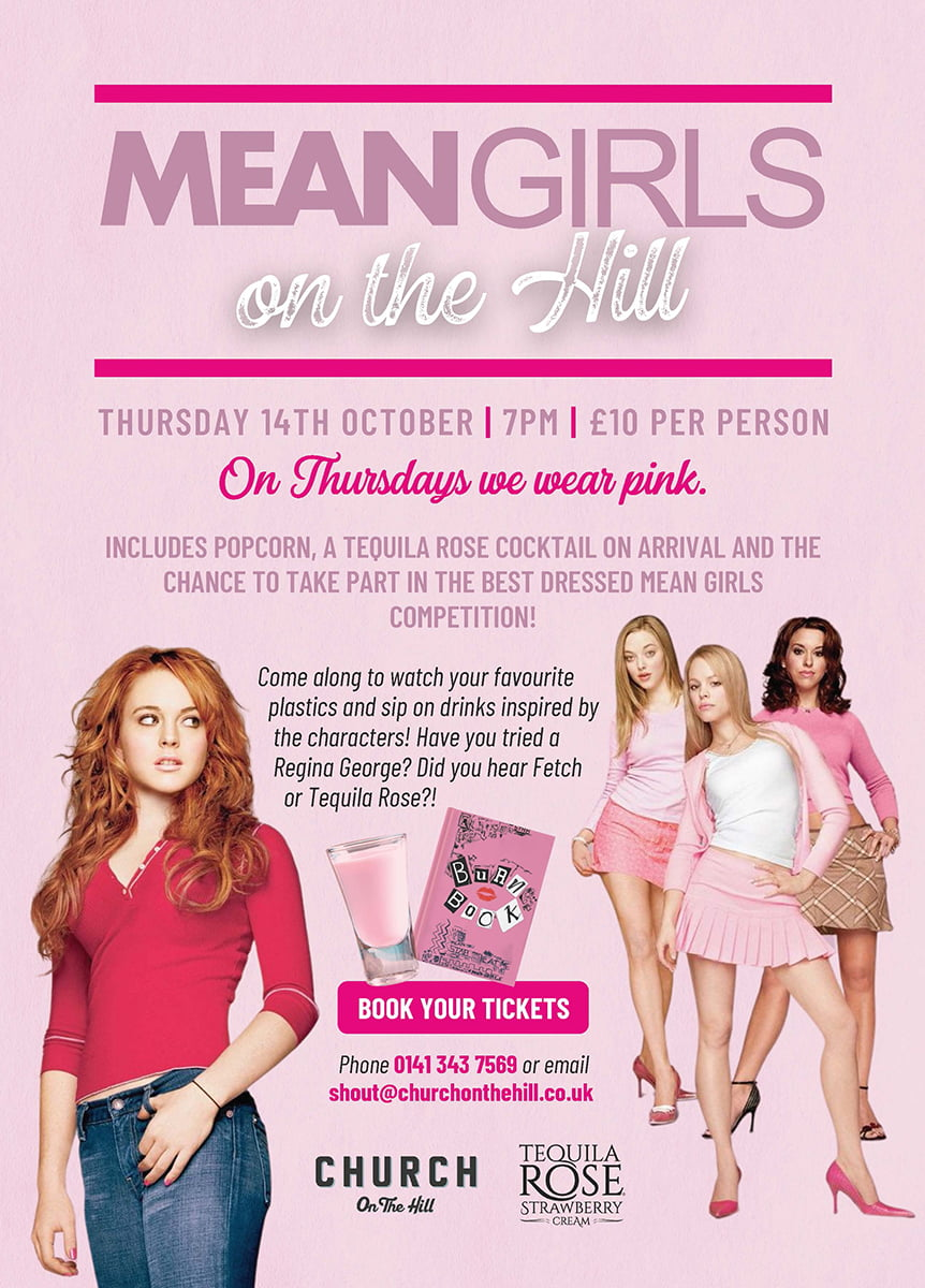 Church on the Hill Mean Girls Night Book Here